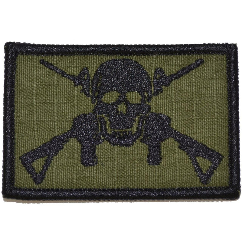 Tactical Gear Junkie Patches Olive Drab Jolly Roger Cross M4s - 2x3 Patch