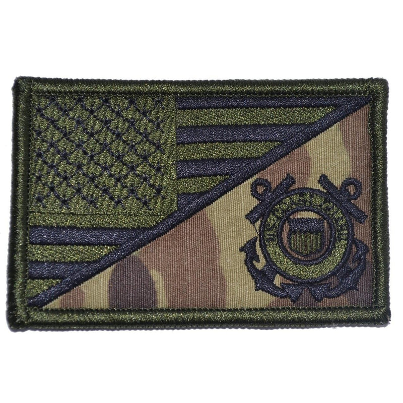 Tactical Gear Junkie Patches MultiCam Coast Guard USA Flag - 2.25x3.5 Patch