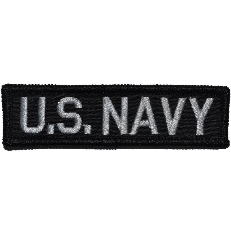 Tactical Gear Junkie Patches Black U.S. Navy - 1x3.75 Patch