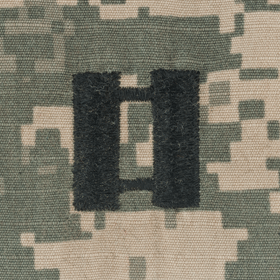 Tactical Gear Junkie Rank CPT Army Rank - SEW ON - ACU