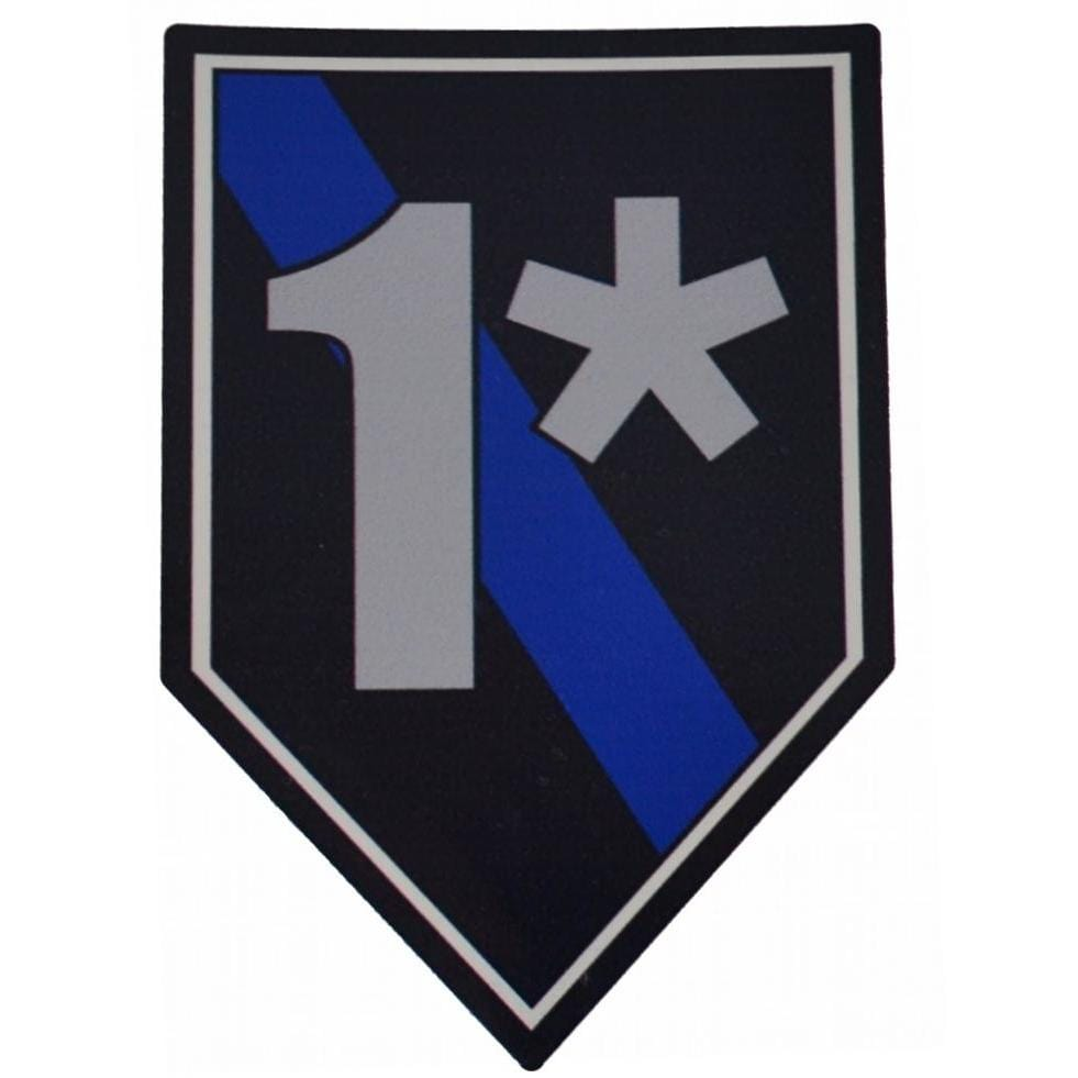 1* (One Ass To Risk) Thin Blue Line Sticker - 4 inch