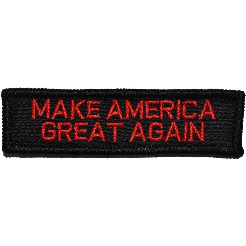 Tactical Gear Junkie Patches Black w/ Red Make America Great Again - 1x3.75 Patch