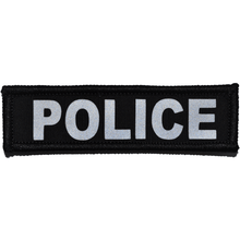 Reflective Police Patch - 1inch x 3.75inch
