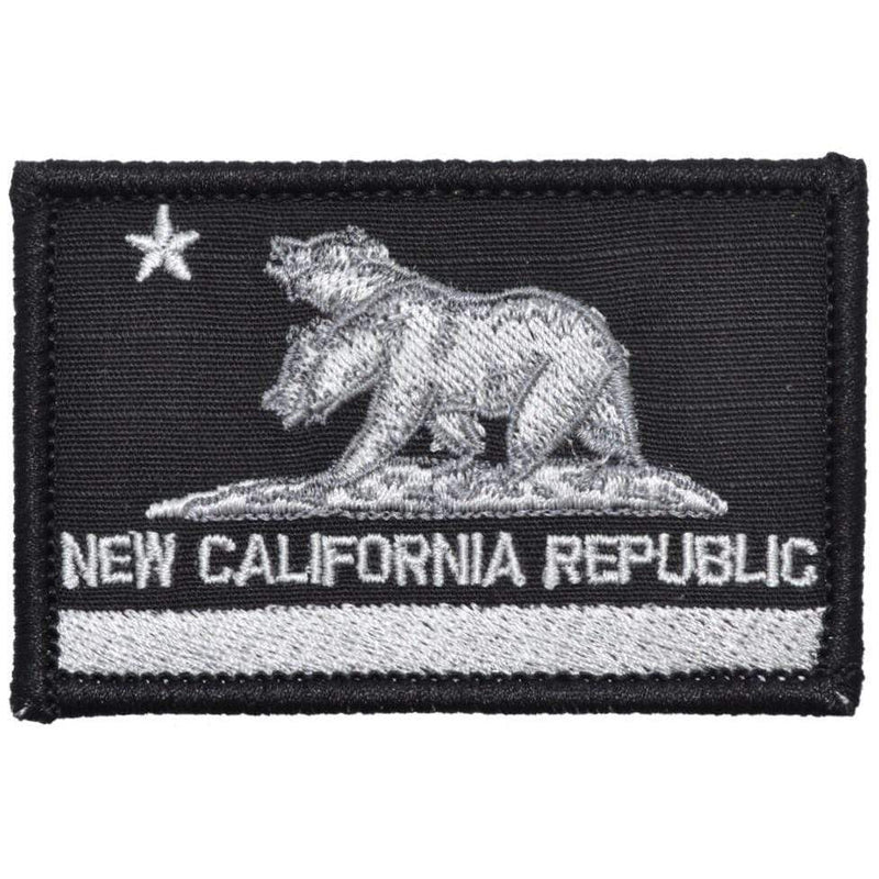 Tactical Gear Junkie Patches Black New California Republic NCR State Flag - 2x3 Patch