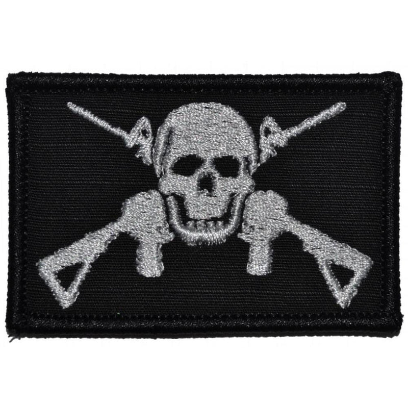Tactical Gear Junkie Patches Black Jolly Roger Cross M4s - 2x3 Patch