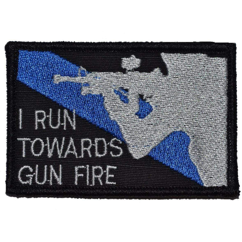 Tactical Gear Junkie Patches Black I Run Towards Gunfire - 2x3 Patch