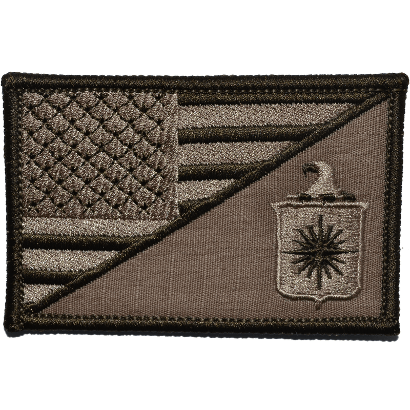 Tactical Gear Junkie Patches Coyote Brown CIA Central Intelligence Agency USA Flag - 2.25x3.5 Patch