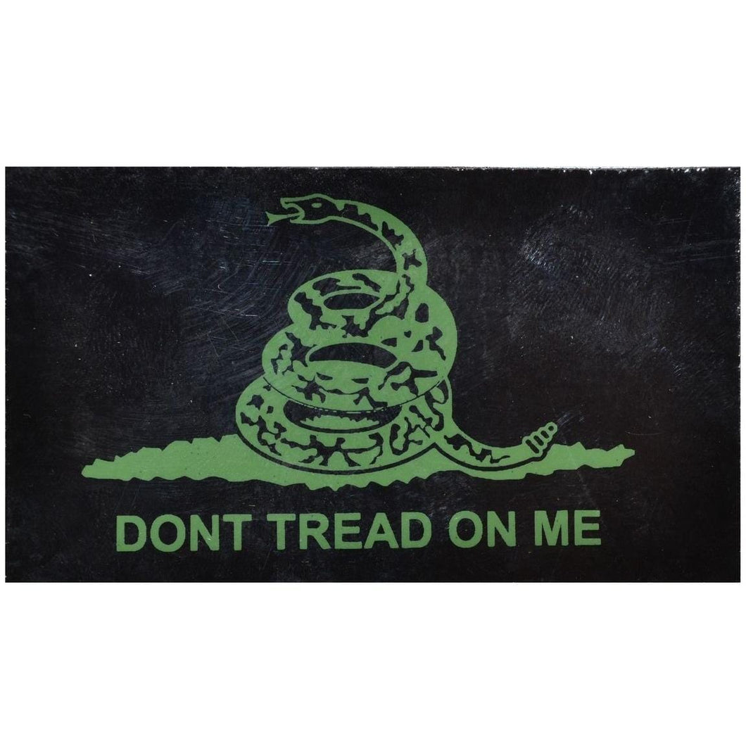 IR (Infrared) Don't Tread on Me Gadsden Snake (Green Graphic) - 2x3.5 Patch