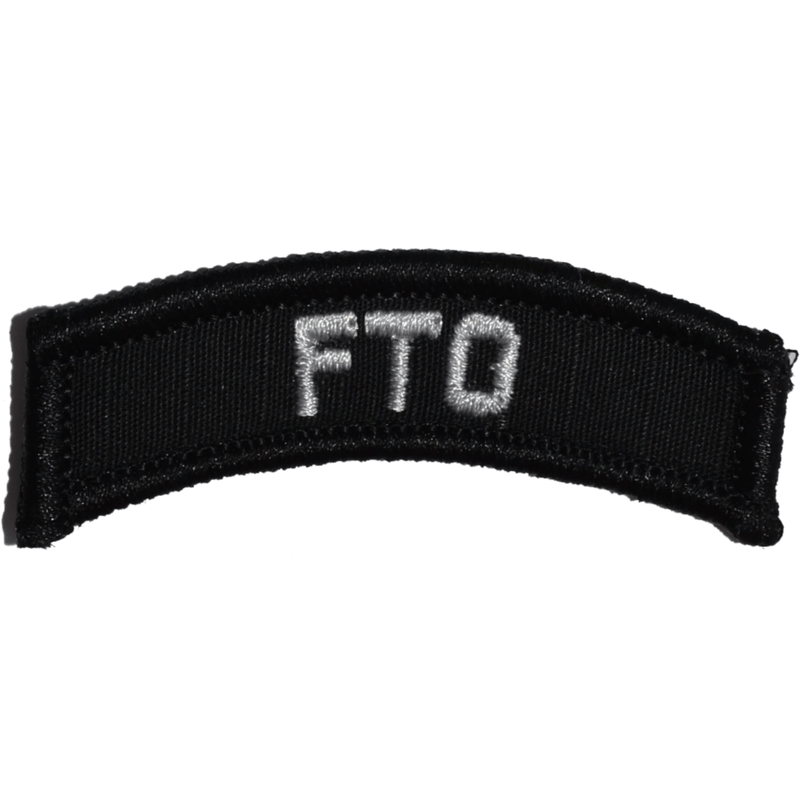 Tactical Gear Junkie Patches Black FTO Field Training Officer - Tab Patch
