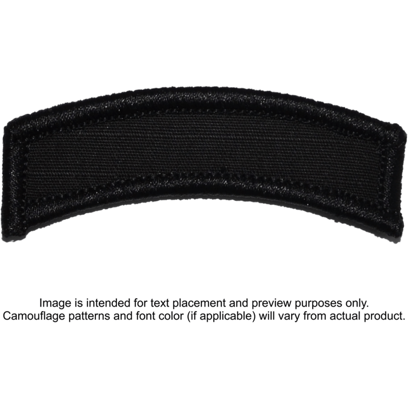 Tactical Gear Junkie Patches Black Custom Text Patch - LARGE Tab