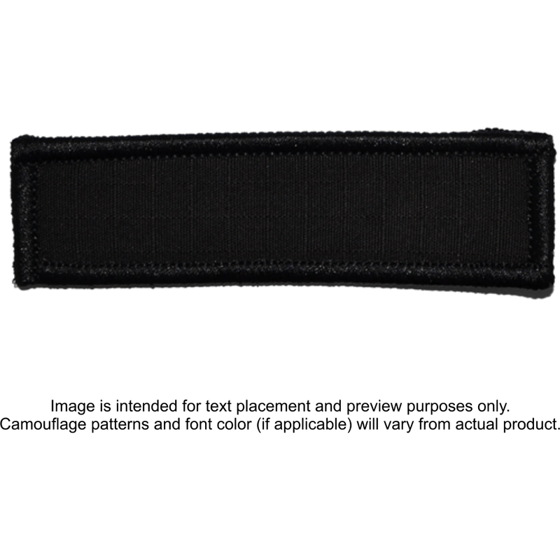 Tactical Gear Junkie Patches Black / Hook Fastener Custom Reflective Patch - 1x3.75