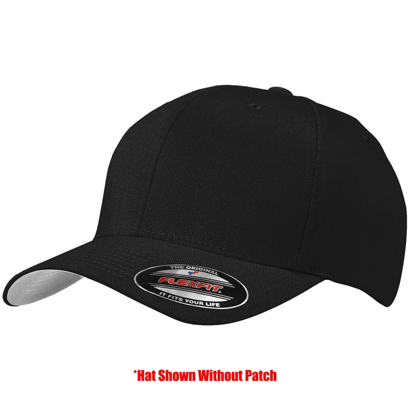 Tactical Gear Junkie Apparel Black / S/M FlexFit Hat with Templar Cross Shield PVC Patch - Multiple Colors
