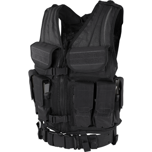 Condor Tactical Gear Black Condor Elite Tactical Vest