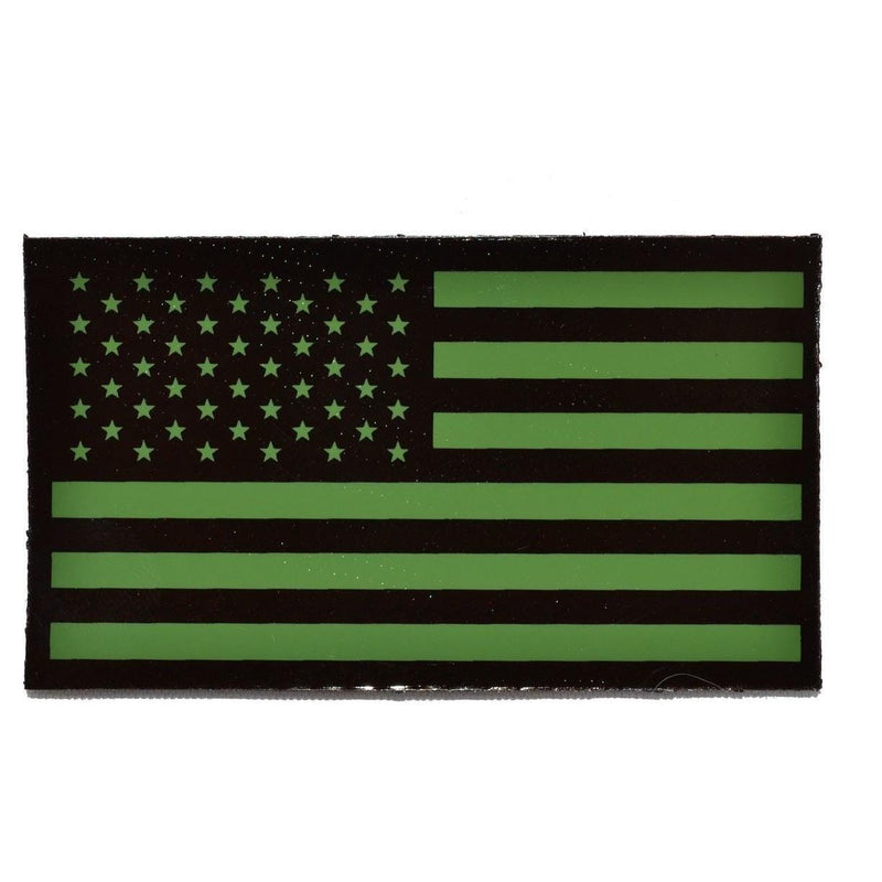 WarriorGlo Patches IR (Infrared) USA Flag, Forward Facing (Green Graphic) - 2x3.5 Patch