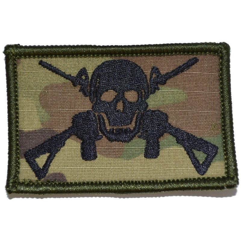 Tactical Gear Junkie Patches MultiCam Jolly Roger Cross M4s - 2x3 Patch