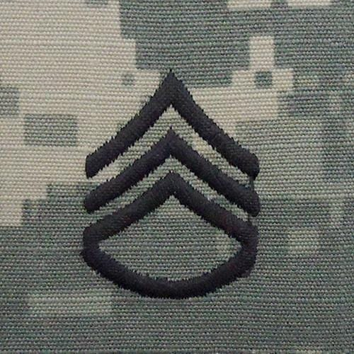 Tactical Gear Junkie Rank SSG Army Rank - SEW ON - ACU