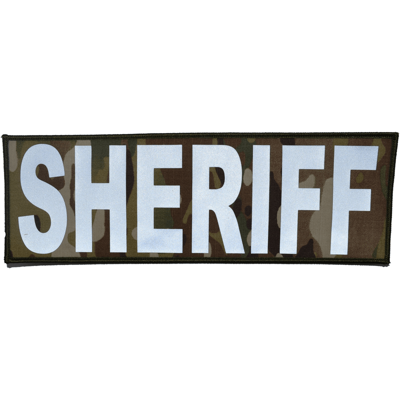 Reflective Sheriff Patch - 4inch x 12inch