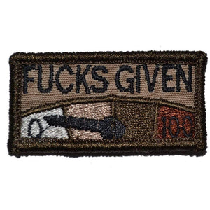 Zero Fucks Given Meter 1x2 - Patch