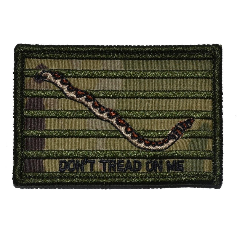 Tactical Gear Junkie Patches MultiCam Original Gadsden Snake - Dont Tread On Me Flag - 2x3 Patch