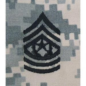 Tactical Gear Junkie Rank CSM Army Rank - SEW ON - ACU