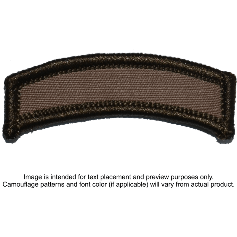 Tactical Gear Junkie Patches Coyote Brown Custom Text Patch - Tab
