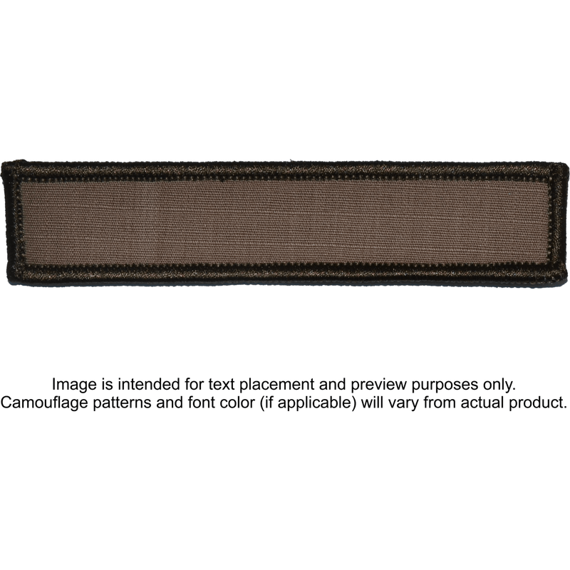 Tactical Gear Junkie Patches Coyote Brown Custom Text Patch - 1x5