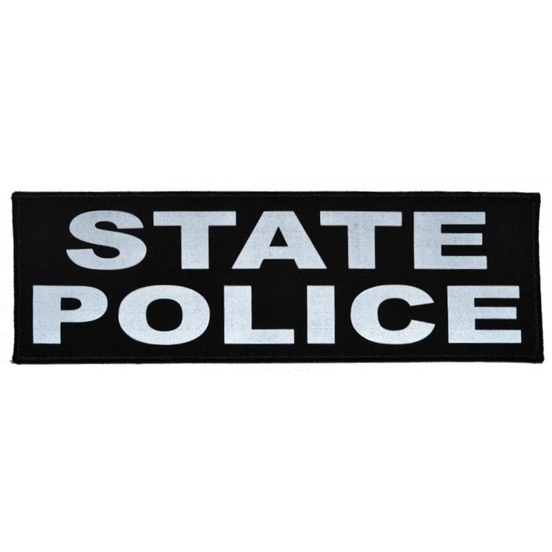 Reflective State Police Patch - 3inch x 9inch
