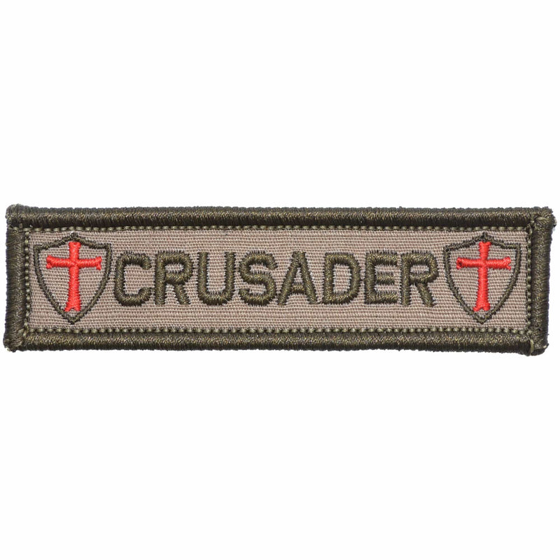 Tactical Gear Junkie Patches Coyote Brown Crusader Templar Cross - 1x3.75 Patch
