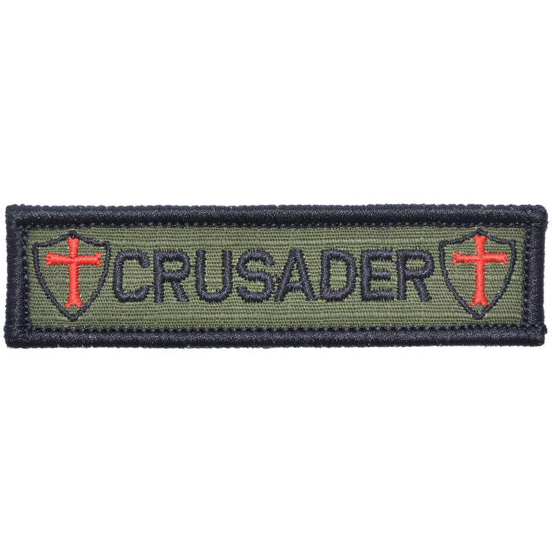Tactical Gear Junkie Patches Olive Drab Crusader Templar Cross - 1x3.75 Patch