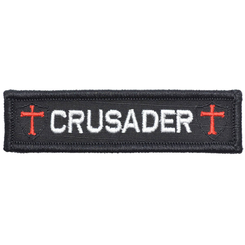 Tactical Gear Junkie Patches Black Crusader Templar Cross - 1x3.75 Patch