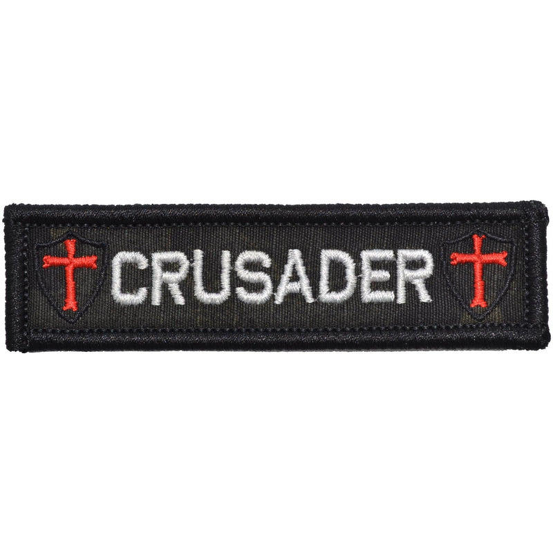 Tactical Gear Junkie Patches MultiCam BLACK Crusader Templar Cross - 1x3.75 Patch