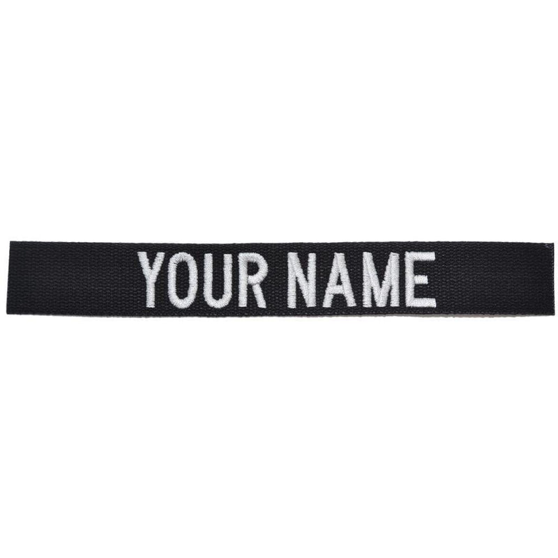 Tactical Gear Junkie Name Tapes Nylon/Cotton Webbing Custom Name Tape - Black
