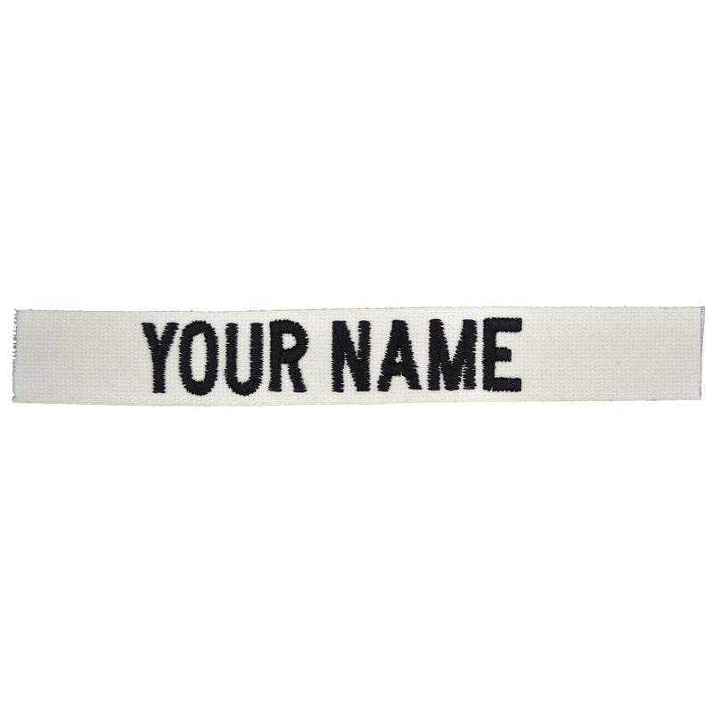 Tactical Gear Junkie Name Tapes Nylon/Cotton Webbing Custom Name Tape - White