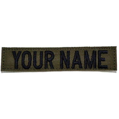 Nylon/Cotton Webbing Custom Name Tape - Olive Drab