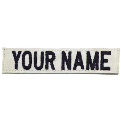 Nylon/Cotton Webbing Custom Name Tape - White