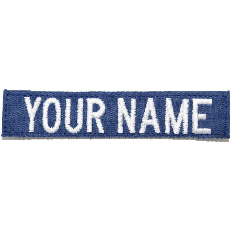 Tactical Gear Junkie Name Tapes Nylon/Cotton Webbing Custom Name Tape - Blue