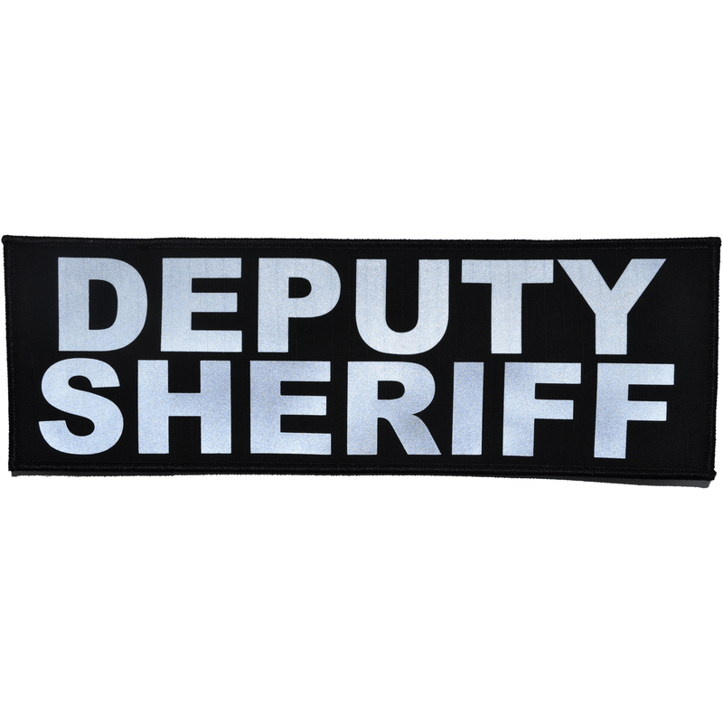 Tactical Gear Junkie Patches Black Deputy Sheriff Reflective - 4x12 Patch