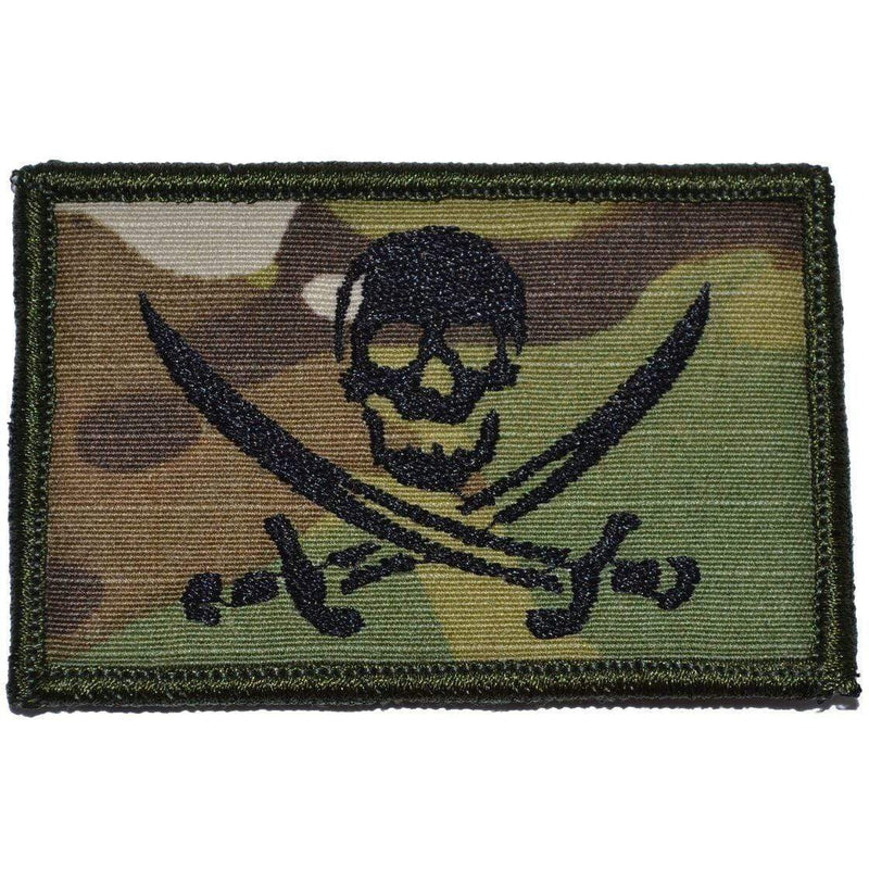 Tactical Gear Junkie Patches MultiCam Pirate Jolly Roger - 2x3 Patch