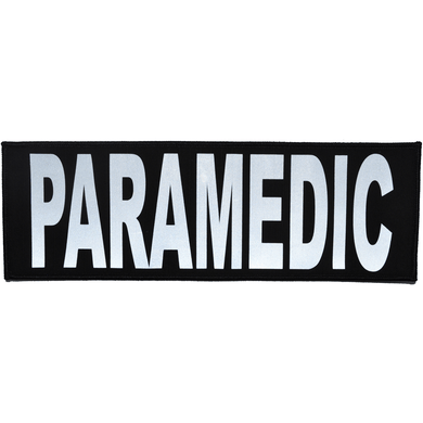 Reflective Paramedic Patch - 4inch x 12inch