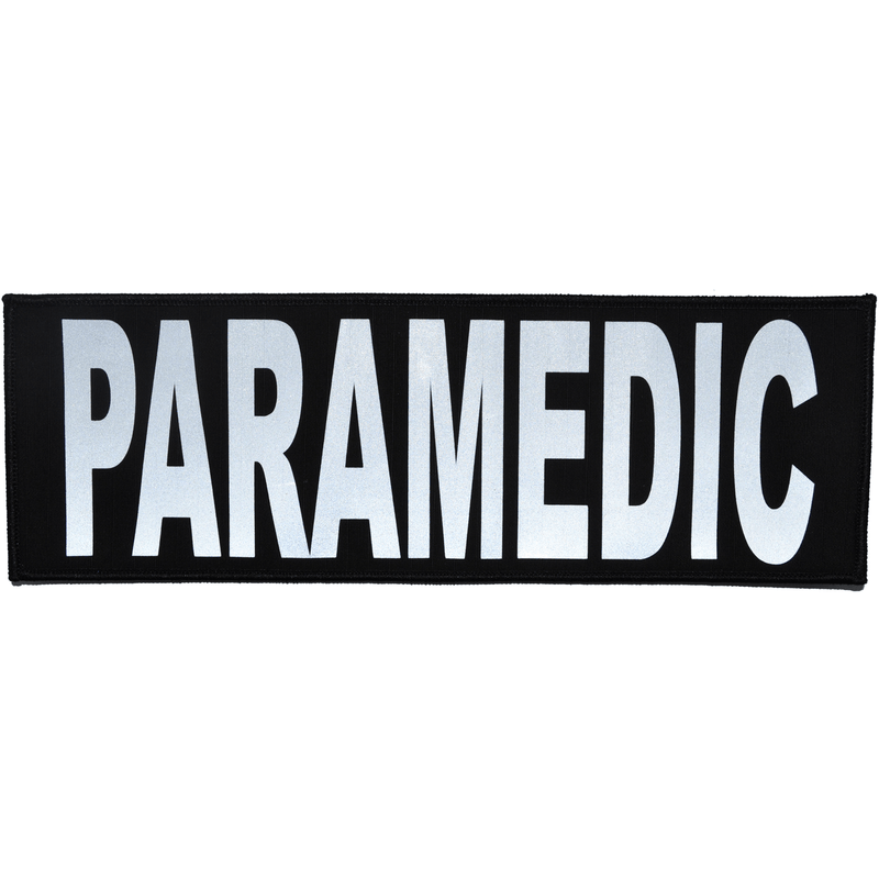 Tactical Gear Junkie Patches Black Paramedic Reflective - 4x12 Patch