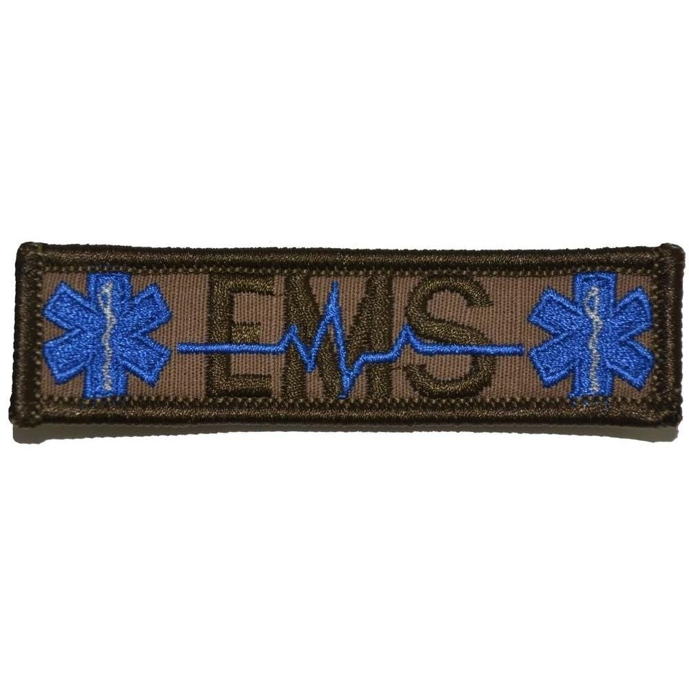 Tactical Gear Junkie Patches Coyote Brown EMS Heartbeat and Stars of Life - 1x3.75 Patch
