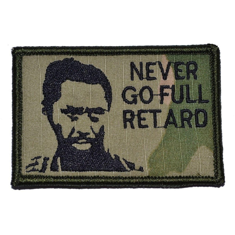 Tactical Gear Junkie Patches MultiCam Never Go Full Retard Kirk Lazarus - 2x3 Patch