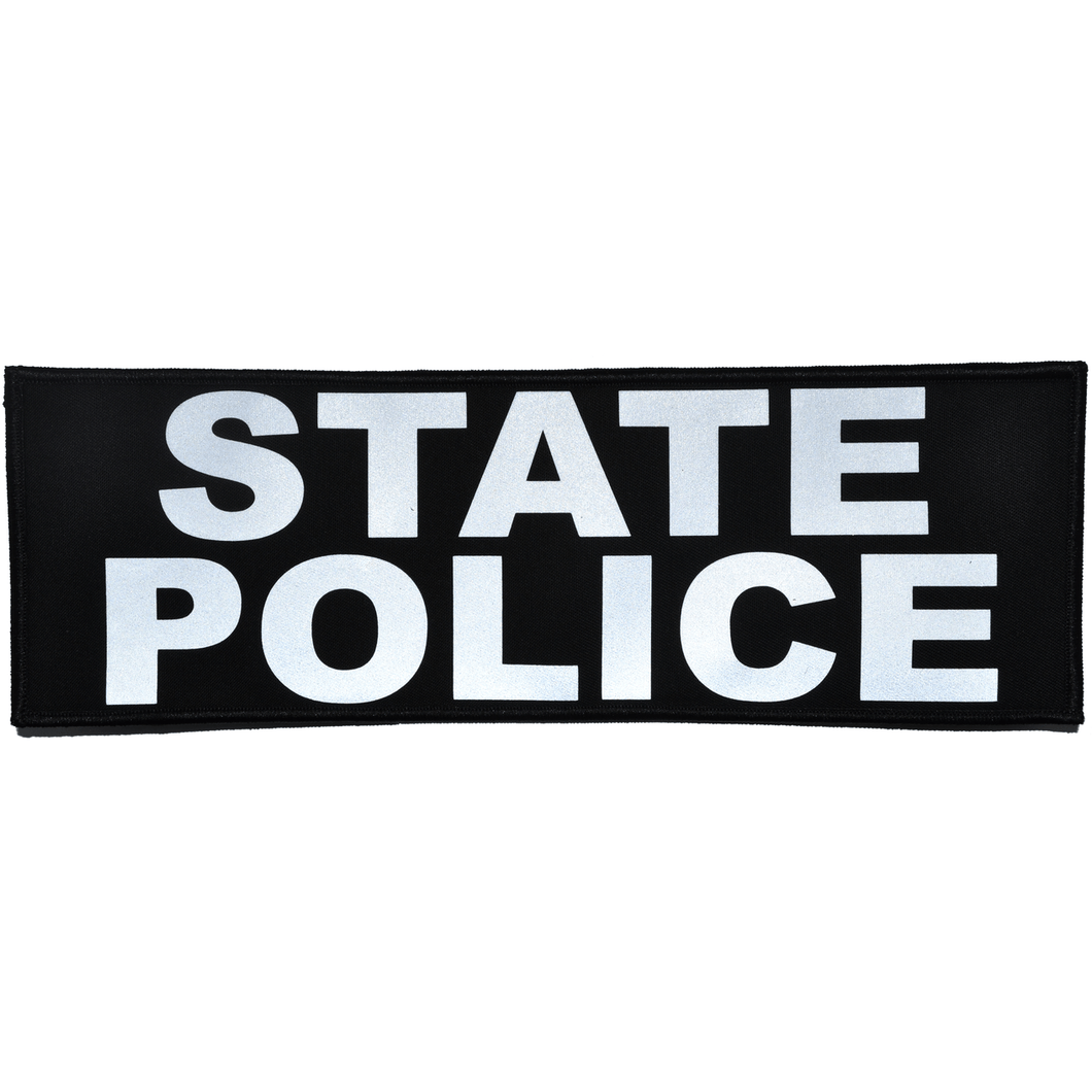 Reflective State Police Patch - 4inch x 12inch