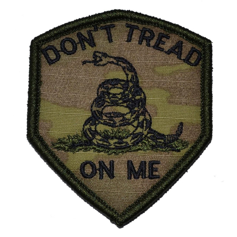 Tactical Gear Junkie Patches MultiCam Don't Tread On Me Gadsden Snake - 2.5x3 Shield Patch