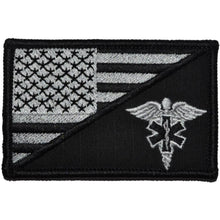EMT Caduceus Star of Life USA Flag - 2.25x3.5 Patch