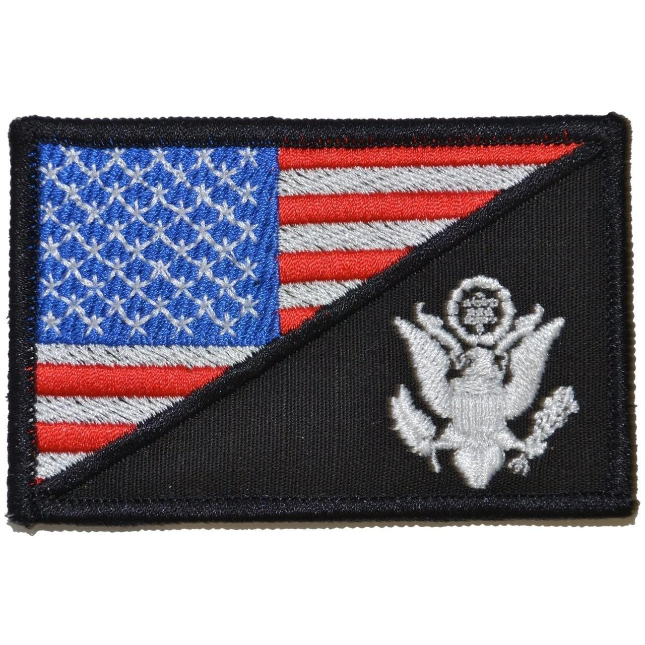 Tactical Gear Junkie Patches Full Color US Army Crest USA Flag - 2.25x3.5 Patch