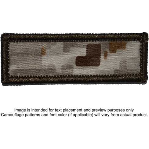 Tactical Gear Junkie Patches MARPAT Desert Custom Text Patch - 1x3