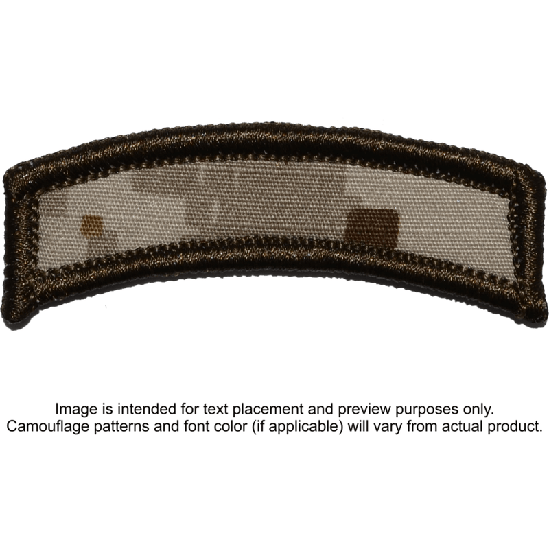 Tactical Gear Junkie Patches MARPAT Desert Custom Text Patch - LARGE Tab