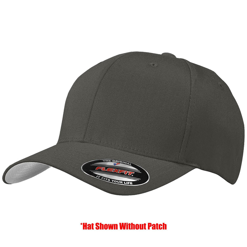 Tactical Gear Junkie Apparel Dark Grey / S/M FlexFit Hat with Templar Cross Shield PVC Patch - Multiple Colors