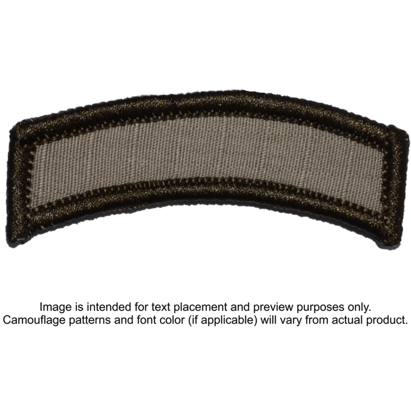 Tactical Gear Junkie Patches Desert Sand Custom Text Patch - LARGE Tab